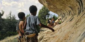 Campamento nómada prehistórico